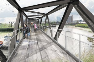 Lea river footbridge drawing